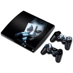 Image 4 - ג וקר ויניל עור עבור PS3 Slim קונסולת מדבקת כיסוי עבור PS3 Slim בקרי Gamepad Controle Mando מדבקות