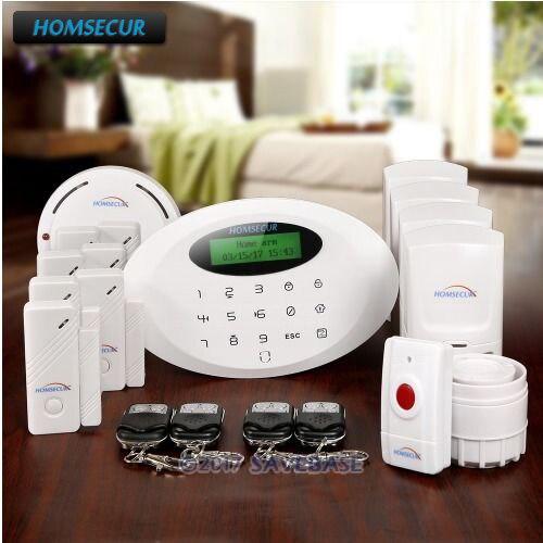 HOMSECUR Wireless APP Controlled GSM Home House Alarm System +4*PIR+Door Sensor