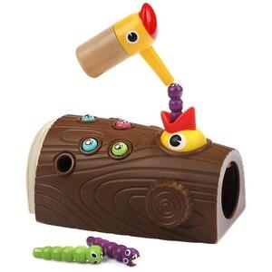 Woodpecker Feeding Game Magnet