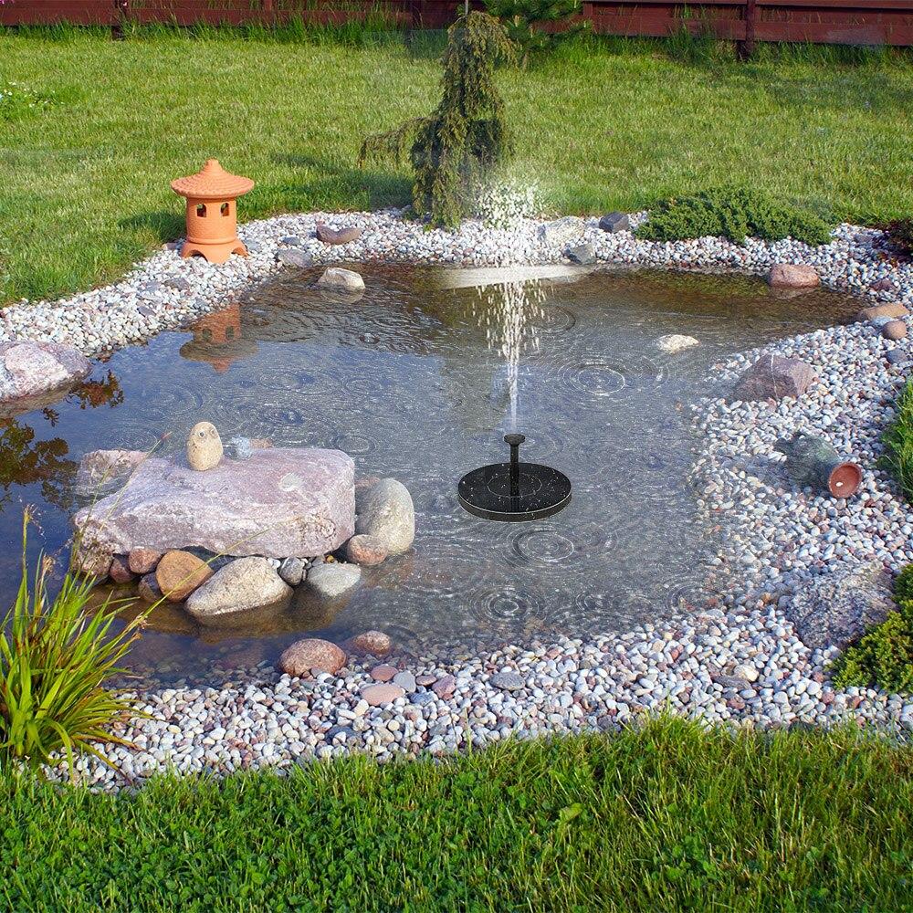 Solar Power Fountain Pool Water Pump Garden Sun Plants Watering Outdoor TT