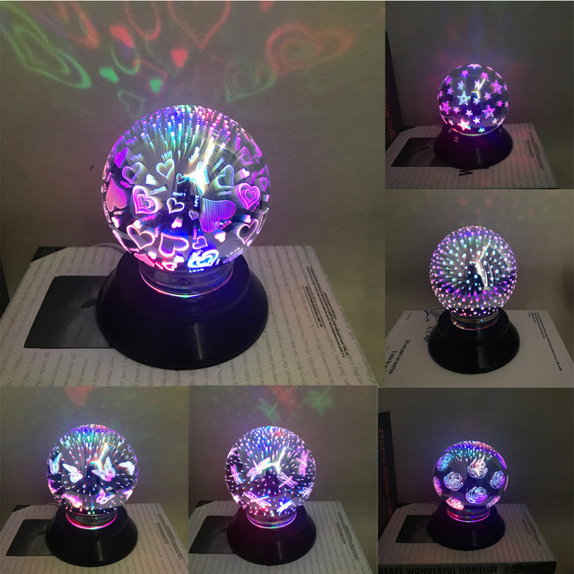 Usb Led Party Lights Portable Crystal Magic Heart Ball Home Karaoke Decorations Colorful Stage Disco Light L4