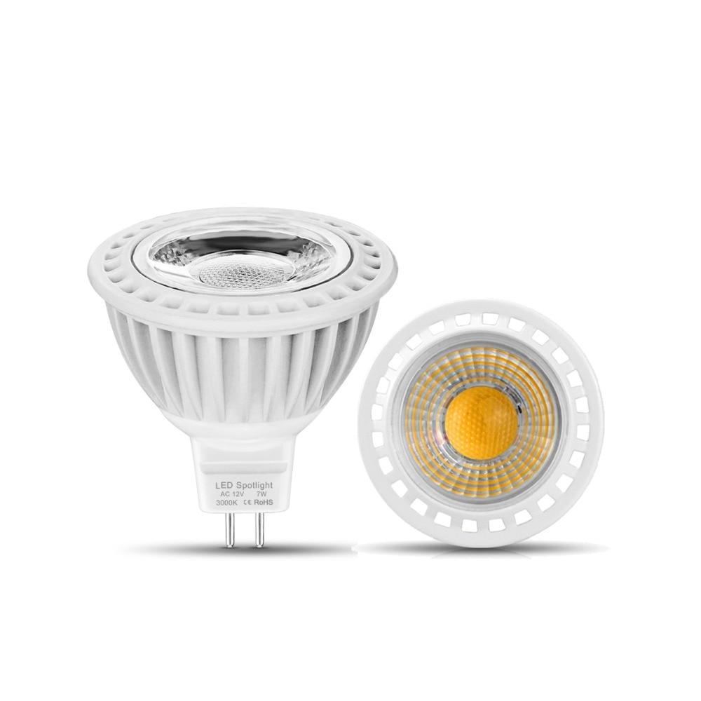 Us 28 99 20 Off 10pcs Mr16 Led Bulbs Corridor Living Room Recessed Lighting Spotlight Ac Dc 12v 3w 5w 7w Spot Luz Light Lamparas In