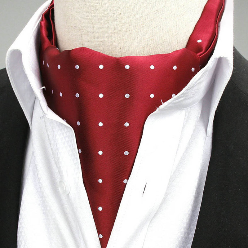 Men Vintage Dot Wedding Formal Cravat Gentleman Polyester Neck Tie