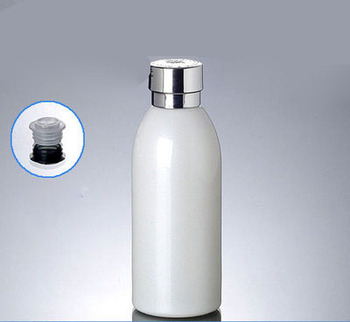 New 120ml white glass bottle with silver lid, 4 ounce empty glass lotion bottle Cosmetic Packaging ,wholesale 120ml glass bottle
