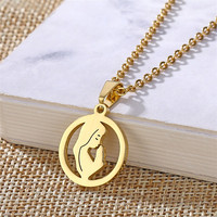 Fashion Virgin Mary Necklace Stainless Steel Women Men Catholic Jewelry Lady of Guadalupe Charms Pendant Gold Chain Accessories