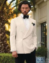Latest Coat Pant Designs Ivory White Shawl Lapel Formal Double Breasted  Custom Groom Wedding Suit For Men 2 Pieces Masculino C