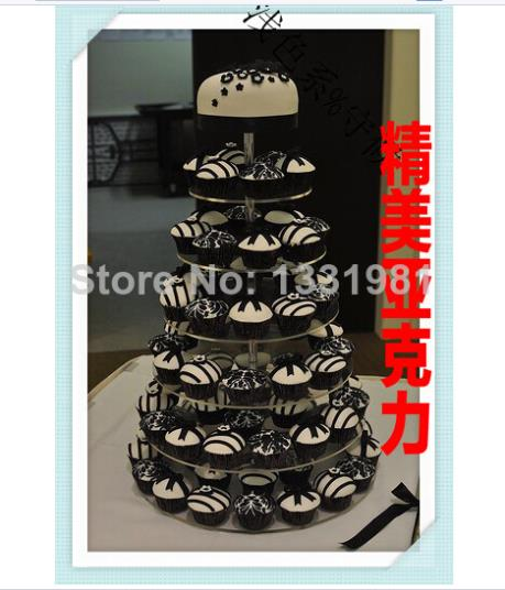 New tier 7 American snack aircraft acrylic cake Fruit dessert package mail horrifying price acrylic cupcake stand decoration