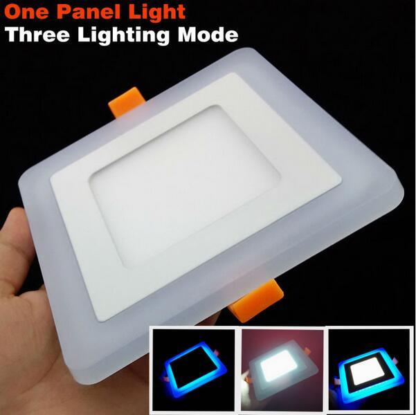 Супер яркий 6 Вт-24 Вт LED Панель потолочный Llight площади утопила Освещение приспособление Гостиная украшения лампы + диск