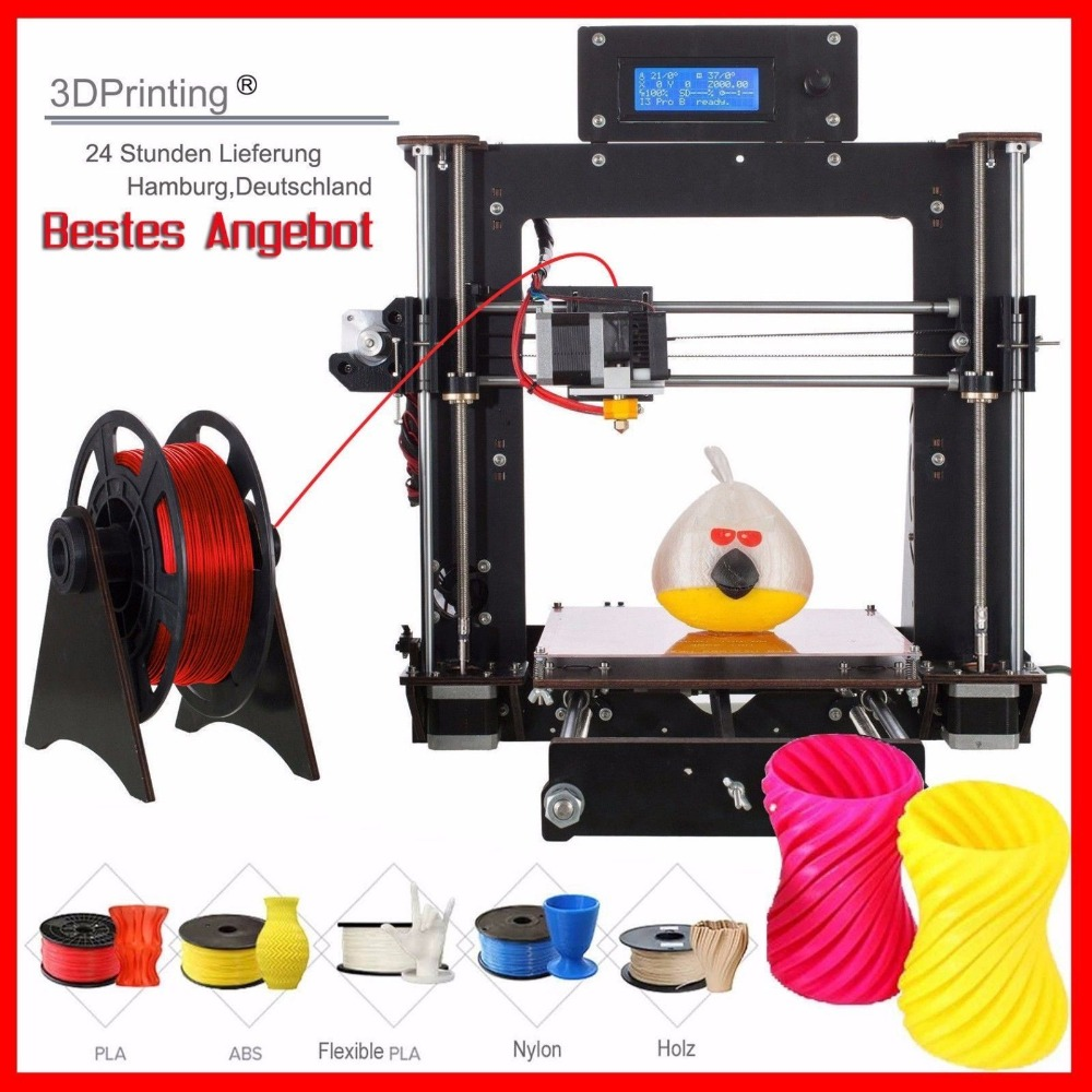 цена на 3D Printer Prusa i3 Reprap MK8 DIY Kit MK2A Heatbed LCD Impresora 3d
