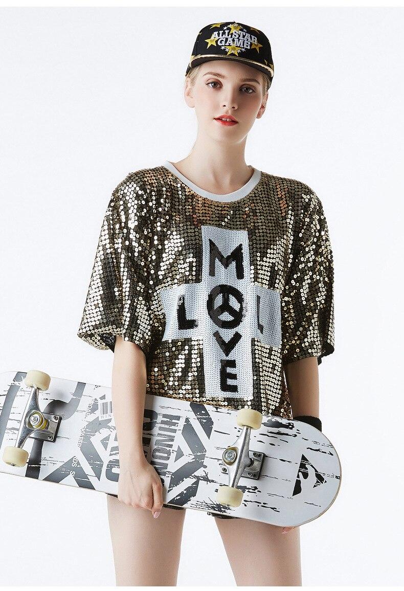 Discothèque paillettes spectacle robe adulte veste à manches courtes Jazz Hip Hop hip hop paillettes Cheerleading uniforme