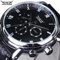 2016 Jaragar Mechanical Automatic Men Watches Top Brands Luxury Calendar 24 Hour Leather Strap Male Dress Business Wristwatches