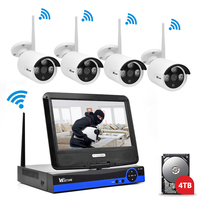 Wistino 960P CCTV System Kit Wireless 4CH NVR Security IP Camera Wifi Outdoor P2P Monitor Kits