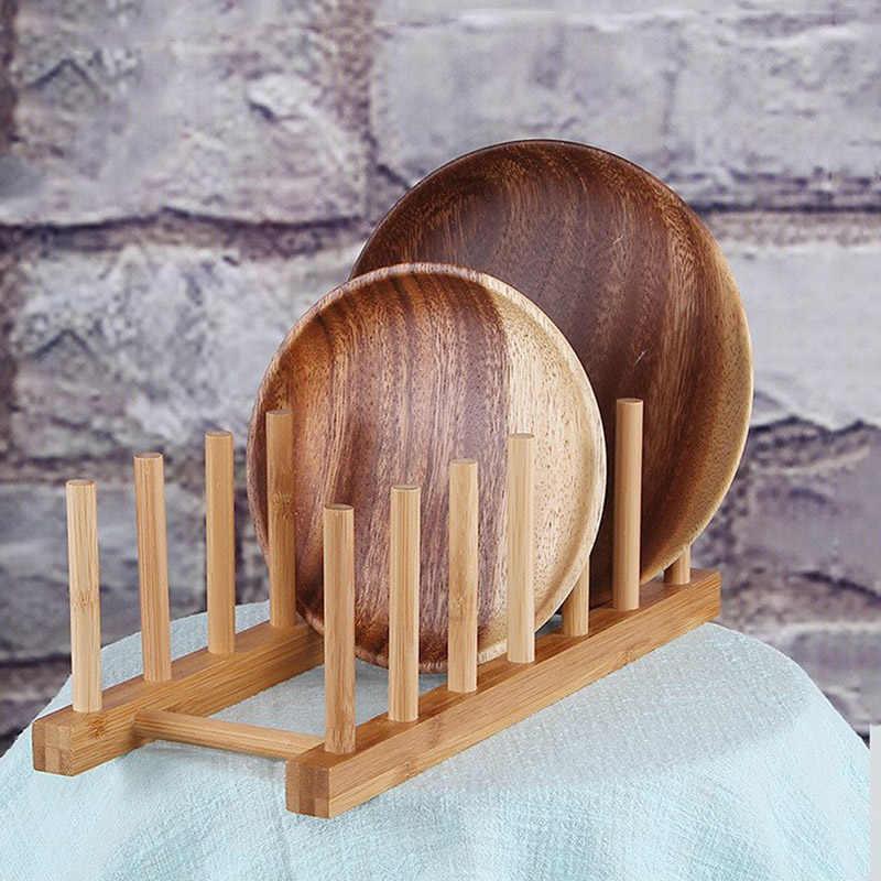 1 セット × 木製ボウルプレート皿スタンドホルダー箸水切り木製箸水切り蓋カバーディスプレイラック