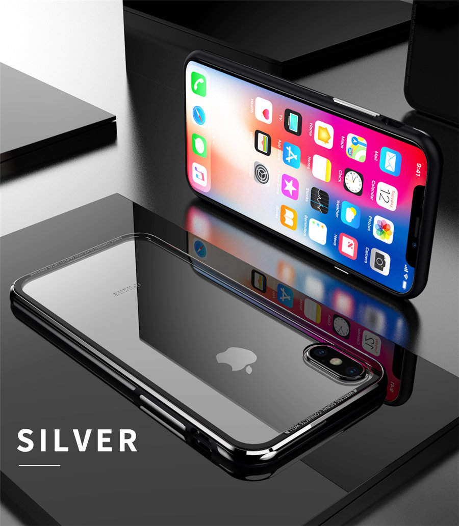 Luxury Aluminum Phone Cases For iPhone X Original R-just Hardness Tempered Glass Cover Case For iPhone X 10 Accessories (12)