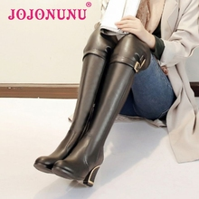 women high heel over knee boot winter warm plush long boot fashion sexy ladies buckle footwear heels shoes P21847 size 34-40