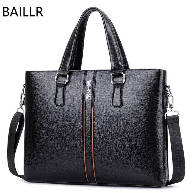 04ded5df28 work striped tote bag office crossbody messenger bags mens handbags  business shoulder bag brown leather briefcase men laptop bag