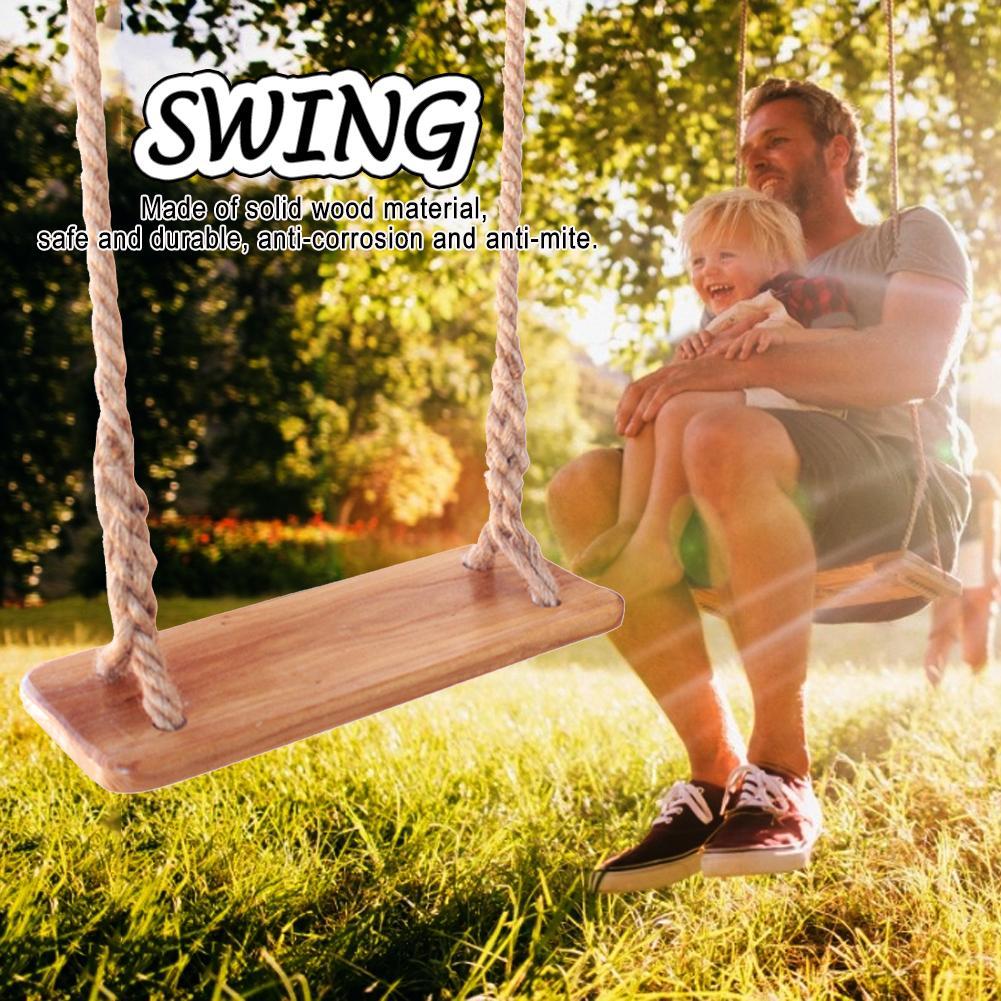 Maison de jeux intérieure extérieure en bois enfants balançoires de jardin en plein air adultes et enfants balançoire en bois jouet balançoire avec des jouets de corde enfants