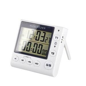 Image 4 - Timer de cozinha Temporizador de Contagem Regressiva Digital 2 Canal LED Piscando para o Laboratório Eletrônico Lição de Casa Cozinha Cozinhar Exercício Gym Workout