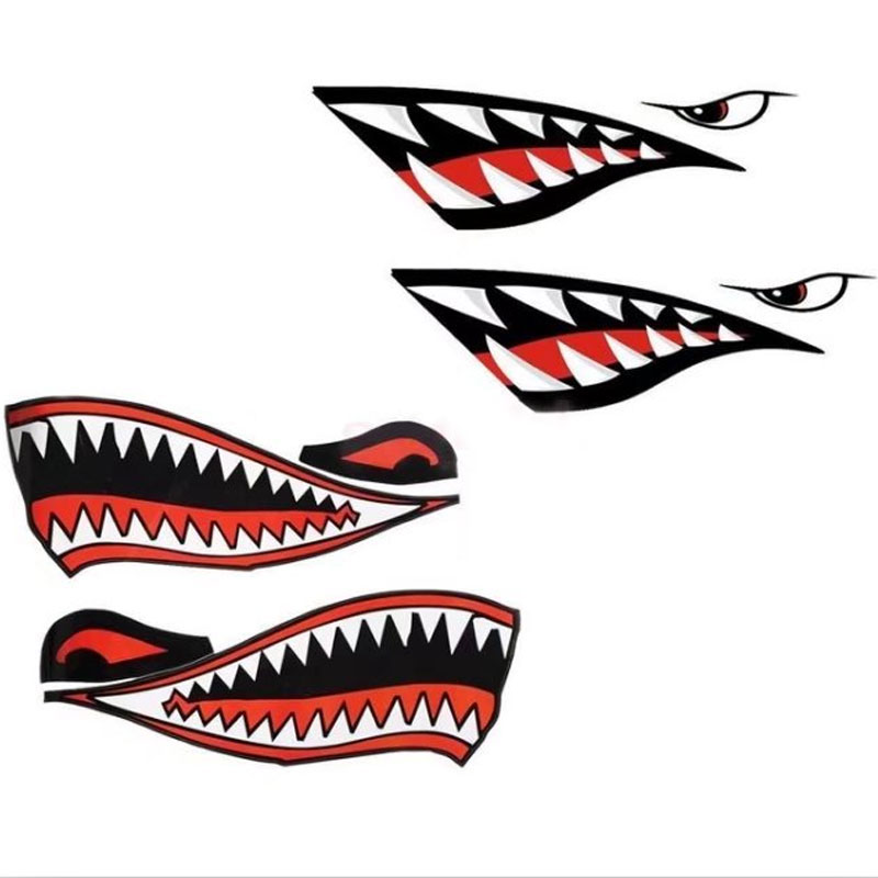 Best Top Shark Mouth Car Sticker List And Get Free Shipping