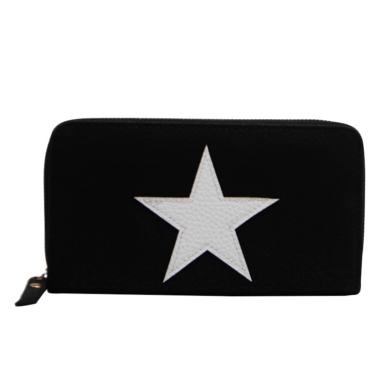 Large Capacity Clutch Purse Female Card Bags New Women Long Star Wallet Fashion Banquet Zipper PU Leather Wallets 2017 men wristlet wallets pu leather zipper pocket long wallet clutch bags man purse business big capacity bag drop shipping
