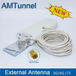 Antena exterior da antena 2.4 ghz de wifi com cabo de 10m para o modem do roteador de huawei zte antena 3g 4g lte antenas sma wifi