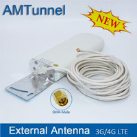 wifi cable antenna 3G 4G lte antennas SMA WiFi outdoor antenna 2.4Ghz antenna with with 10m cable for Huawei ZTE router modem