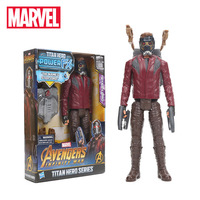 30cm Electronic Marvel Toys Avengers 3 Infinity War Titan Hero Power FX Star Lord Black Widow PVC Action Figure Superhero Toy
