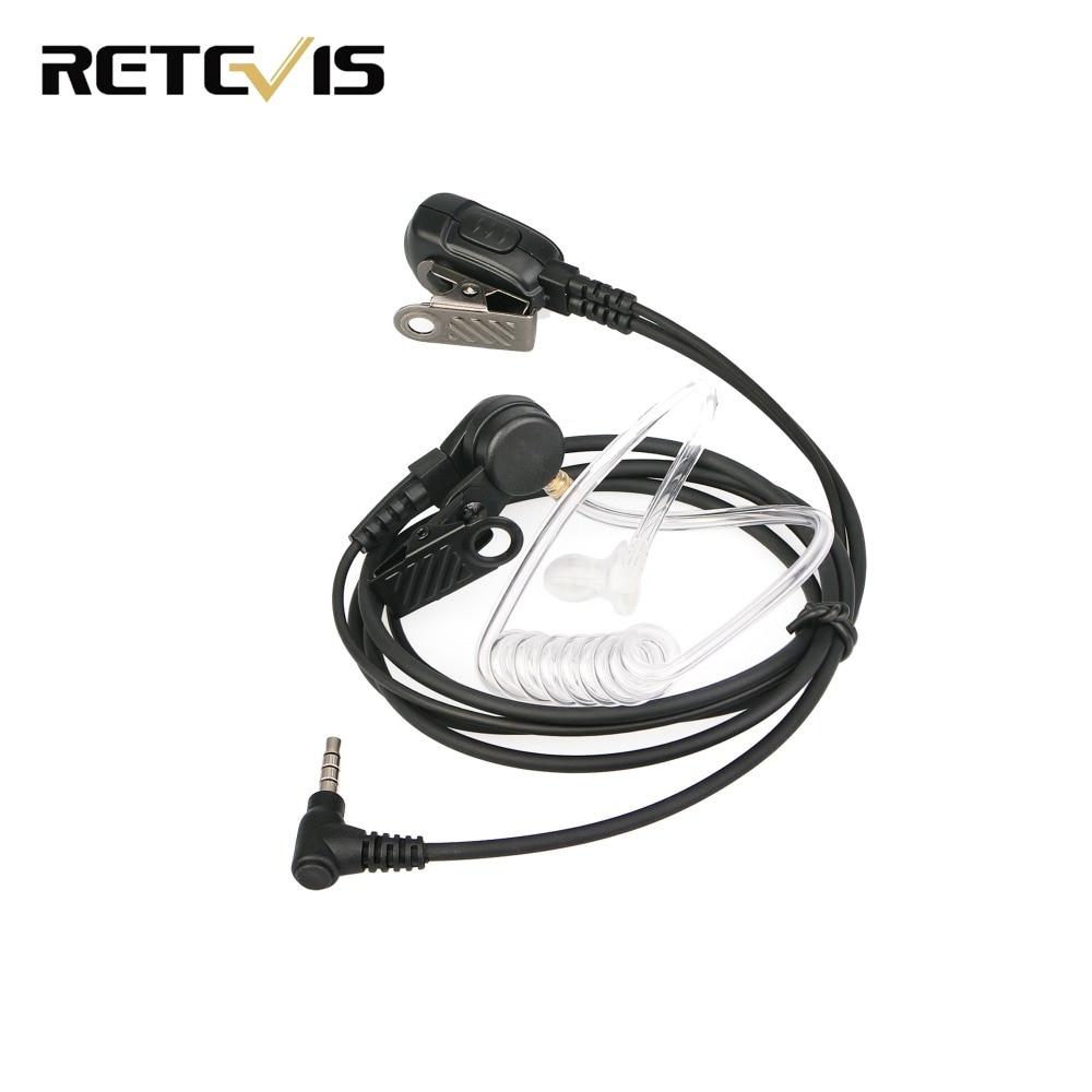 Retevis Radio Earpiece Mic PTT Headset For YAESU VERTEX 3