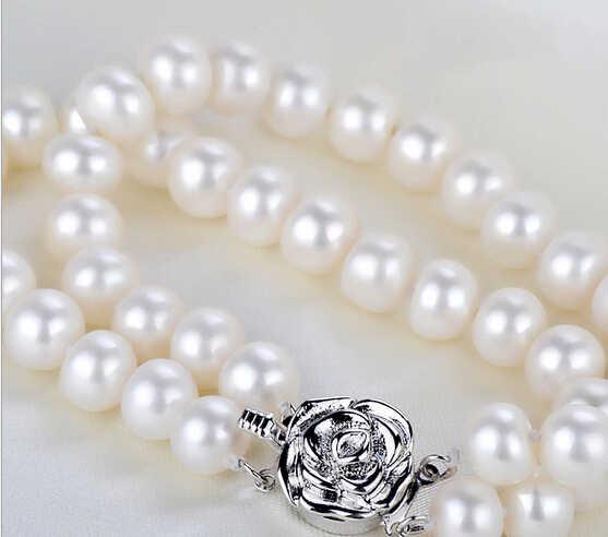 ZCD 417 + + + Đôi vòng tay ngọc trai genuine tự nhiên nước ngọt trang sức ngọc trai sỉ thời trang Hàn Quốc nhiều lớp tay trang trí
