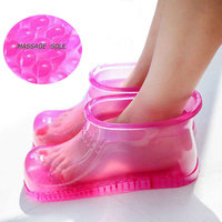 Foot Bath Massage Boots Household Relaxation Slipper Shoes Feet Care Hot Compress Foot Soak Theorapy Massage Acupoint Sole