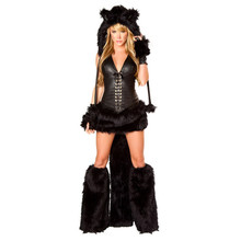 2017 ladies Catwoman Halloween containing the tail catuniform cosplay nightclub DS  winter with shackle Tiger installed clothing