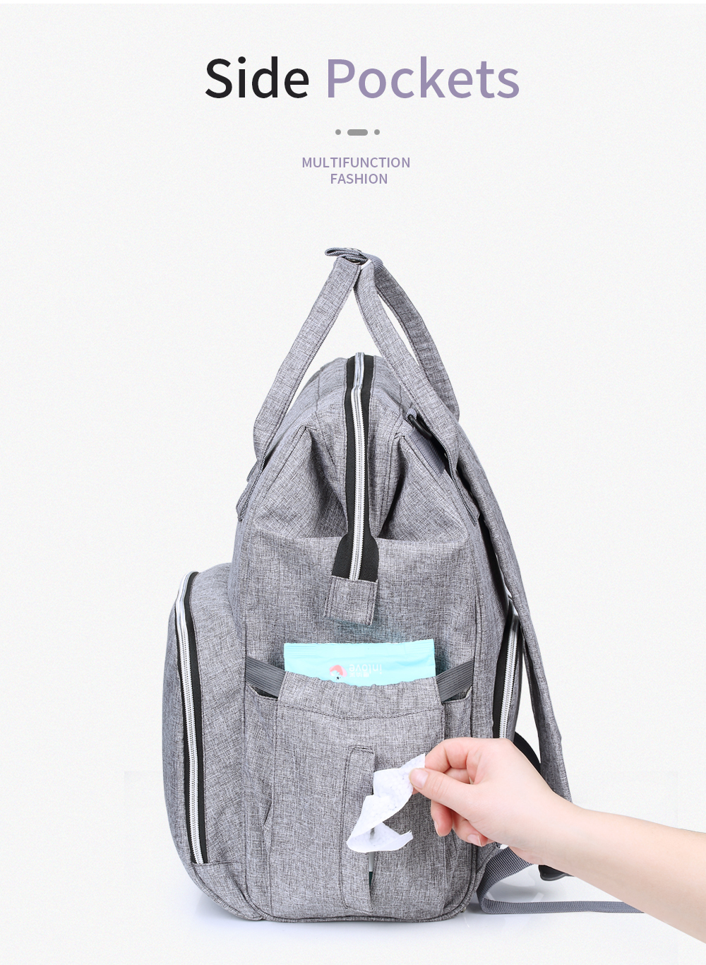 HTB1mLM2cQ5E3KVjSZFCq6zuzXXah Insular Brand Nappy Backpack Bag Mummy Large Capacity Stroller Bag Mom Baby Multi-function Waterproof Outdoor Travel Diaper Bags