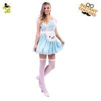 Poker Princesa Alice Wonderland Disfraces de adultos Para Las Mujeres de Halloween Vestido de Lujo Del Traje Del equipo