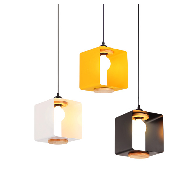 Nordic creative macarons pendant lights modern simple iron art soild wood dining room foyer milky tea shop LED lighting fixture nordic post modern denmark creative chandelier art crown bar coffee shop decoration light dining lights