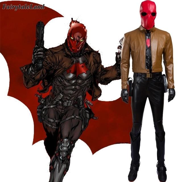 Red Hood Batman cosplay costume adult Halloween costume men Superhero  Red Hood costume Batman