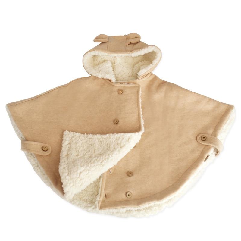 Органический Хлопок Зима Плащ для Девочки Мальчики Открытый Капюшоном Теплый Jackey для Детей Детей И Пиджаки