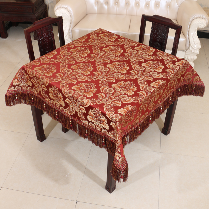 Luxury Embossed Jacquard Table Cloth High End European style