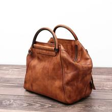 2016 New Handmade Hobos Genuine Leather Soft Vintage Women Handbag Shoulder Messenger Bag Real Cowhide Feminina Hobo Totes