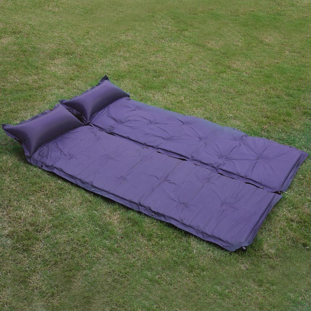 ao ar livre unico acampamento piquenique tenda cama inflavel almofada inflavel colchao macio dobravel dormir mat
