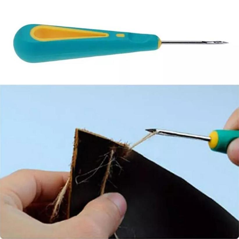 New Arrival Steel Sticher Sewing Awl Shoes Repair Sewing Crochet Hook Needle Tool Drop Shipping ap0321