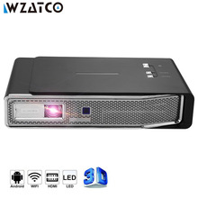 WZATCO C15 4K MINI DLP 3D Projector Smart Android WIFI for Iphone Home Theater Beamer Full HD 1080P 3LED Video Laser