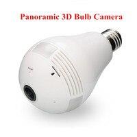 960 1 3MP Bulb Light Wireless IP Camera Panoramic Wi Fi Lamp FishEye WIFI Camera 360