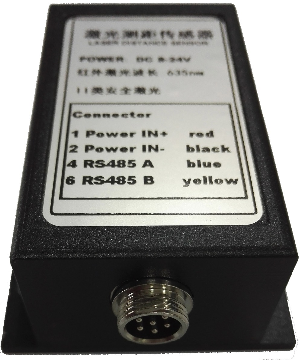 CANBUS/MODBUS 485 + 2mm 10Hz 70 m Trifase Ad Alta Precisione Telemetro laser Che Vanno Sensore Industriale Sensore di Distanza Laser 635nm - 4