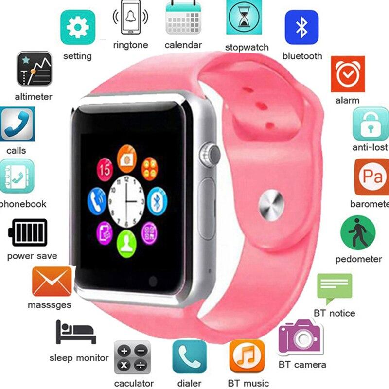 A1 Homens Relógio Inteligente Bluetooth Relógio de Pulso Do Esporte Pedômetro Com Câmera SIM Smartwatch Para Android Smartphones Rússia T15 PK DZ09 Q18
