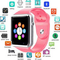 A1 Smart Watch Men Bluetooth WristWatch Sport Pedometer With SIM Camera Smartwatch For Android Smartphone Russia T15 PK DZ09 Q18