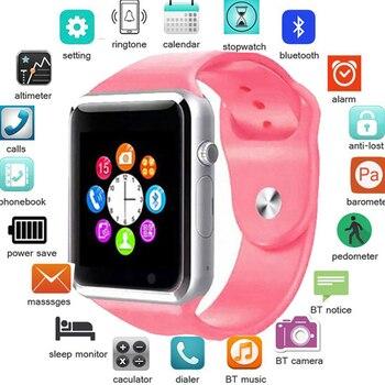 Reloj inteligente A1 para hombre reloj de pulsera Bluetooth podómetro deportivo con cámara SIM reloj inteligente para Smartphone Android Rusia T15 PK DZ09 Q18