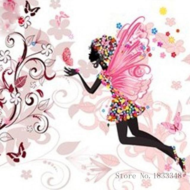 Diamante bordado iconos baile Flor de hadas set para bordado ...