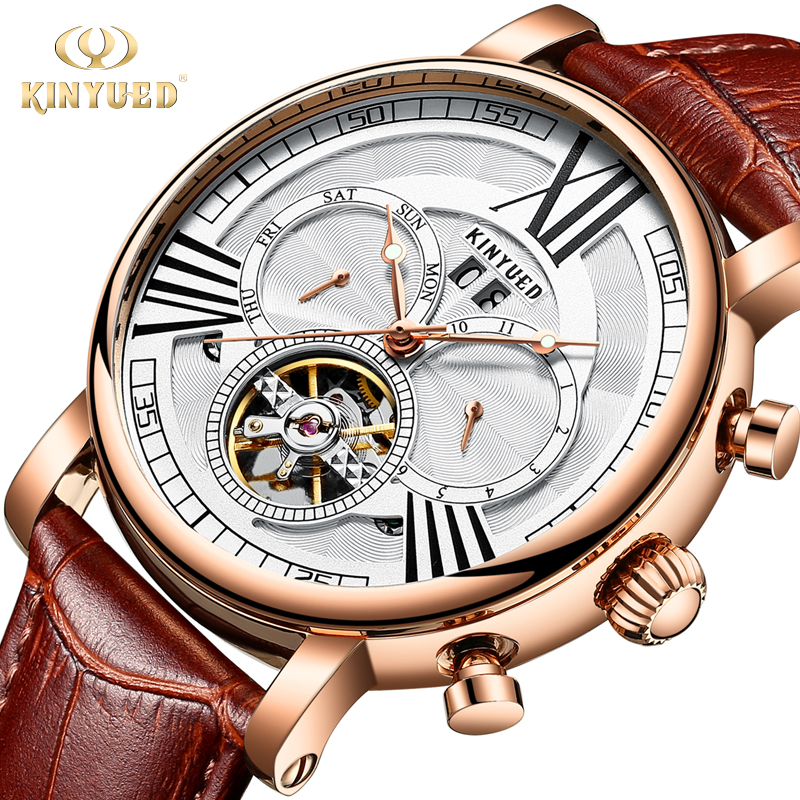 KINYUED Mens Watch Top Brand Luxury Automatic Mechanical Skeleton Watches Calendar Army Military Male Clock Relogio MasculinoKINYUED Mens Watch Top Brand Luxury Automatic Mechanical Skeleton Watches Calendar Army Military Male Clock Relogio Masculino