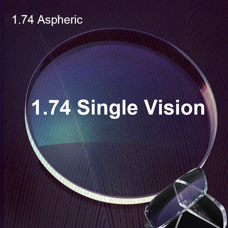 Optical Prescription 1.74 Single Vision Aspheric Prescription Optical Lenses For Myopia Presbyopia Astagmatism Spectacles Lenses