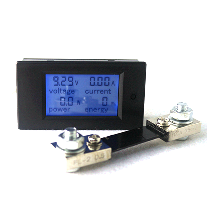 DC 6.5-100V 100A Digital Voltage Current Meter LCD 4 in 1 DC Voltmeter Ammeter Power Energy Tester with DC 100A/75mV Shunt dc 6 5 100v 0 100a lcd display digital current voltage power energy meter multimeter ammeter voltmeter w 100a current shunt